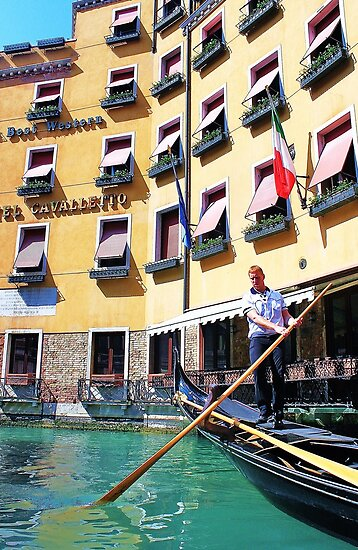 man driving the gondola by xxnatbxx