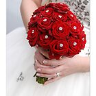 Bridal Bouquet ~ Red Roses  by ©The Creative  Minds