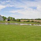 Barns and Pond near Lynn, Indiana by mltrue