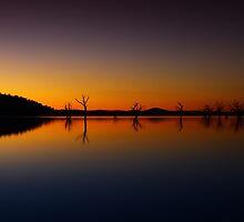 Lake Hume at dusk 2 by John Vandeven