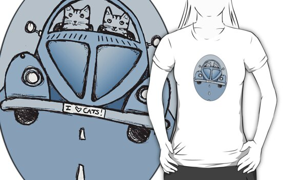 Blue VW Cats by Ryan Conners