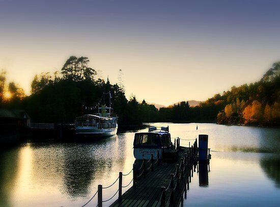 'SS Sir Walter Scott'  Steam Boat On Loch Katrine,Scotland. by Aj Finan