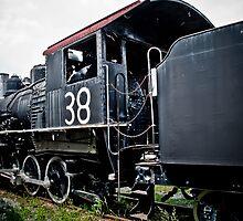 Woodward Steam Locomotive #38 by Phillip M. Burrow