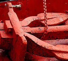 Red Anchor & chain by buttonpresser