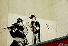 Banksy Sniper & Child by buttonpresser