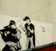 Banksy Sniper & Child by buttonpresser