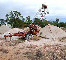 Bucket Elevator - Lightening Ridge NSW Australia by Phil Woodman