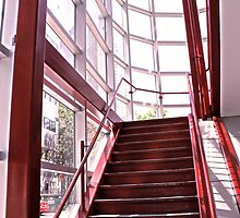 Red Staircase by PPPhotoArt