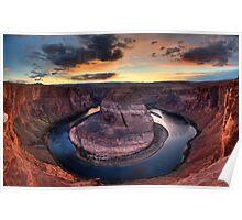 Sunset at Horseshoe Bend, Arizona (USA) Poster