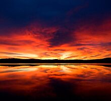 Sunrise over Spencer's Gulf, Port Augusta, SA by Richard  Windeyer