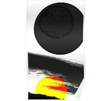 Yellow Sun abstract Poster