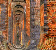 Balcombe Viaduct  Pierced Piers North - HDR by Colin J Williams Photography