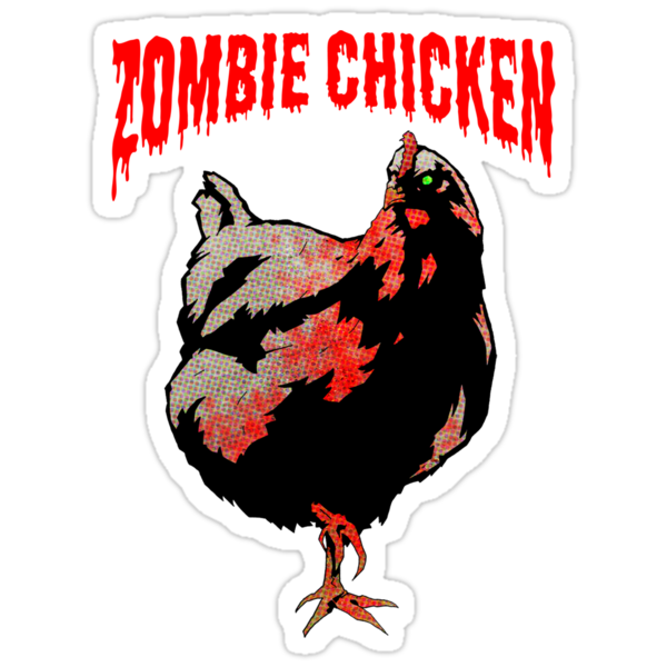 ZOMBIE CHICKEN by matthewdunnart