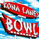 Kona Lanes Bowling Alley Retro Neon Sign by Anthony Ross