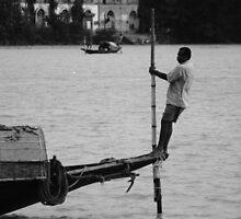 Rowing on the edge by Gairik Sarkar