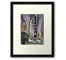 Palace Theater Retro Neon Sign Framed Print