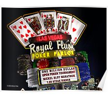 Las Vegas Poker Parlor Retro Neon Sign Poster