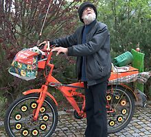 Old man with his bicycle by Klaus Offermann