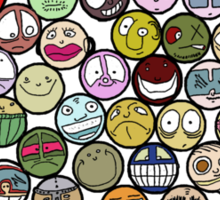 Seventy-Three Faces Sticker