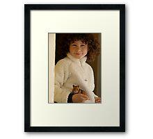 One Girl and her Hamster Framed Print