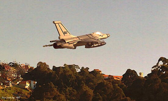 F-16C taking off, Brazil by Breno Loester Cogo