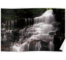 Upper Part of the Ganoga Waterfalls-Rickets Glen State Park Poster