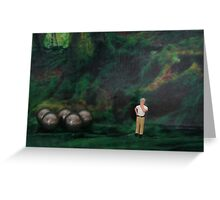 Oliver thought he was hopelessly lost in the forest, then suddenly he found his bearings. Greeting Card