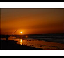 Night Fishing in Whiterocks -Portrush by Ferdinand Lucino