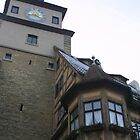 Rothenburg clock building by fototaker