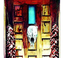Skull & Chili Ristras - Postcard by Michelle Bush
