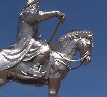 The silver horse of Chinggis Khaan, Ulaanbaatar by Martina Nicolls