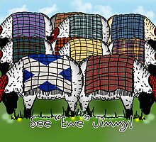 Scottish Sheep - See Ewe Jimmy Greeting Card by Moonlake