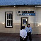 Conductor Greets Agent at McGregor, Texas Station by Jack McCabe