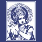 Lord Krishna-white by OTIS PORRITT