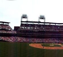 Citizen Bank Park Day Game Panoramic by lizwaltzes
