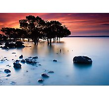 Sunset at Tenby Point Photographic Print