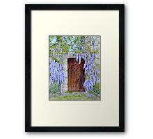 The Wisteria Gate Framed Print