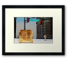 Kevin finally locates the Toast of Broadway; it wasn't exactly what he expected. Framed Print