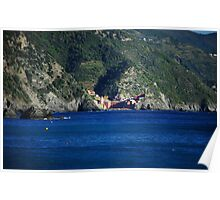 Vernazza from Monterosso Poster