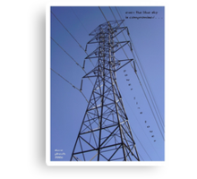 Power Line Tower Canvas Print