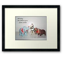Plastic Animals Haiku Art Print Framed Print