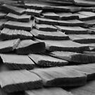 Weathered Wooden Shingles by rwhitney22