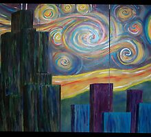 Chicago Starry Night by Laura Schneider