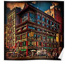 Intersection of Canal & Center Streets, NYC, USA Poster