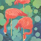 Flamingos by Karen Ilari