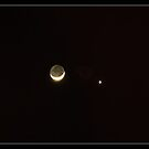 The Crescent Moon and Venus by rwhitney22