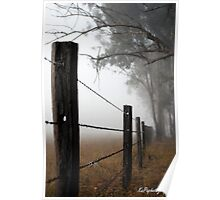 Misty Wire Poster