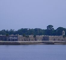Castillo de San Marcos at Dawn by Judy Wanamaker