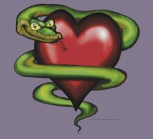 Serpent n Heart Pocket Tee by Kevin Middleton