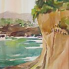'Bay Cliff'  -  bayside cliffs along the seacoast by Jean  W. Thomas